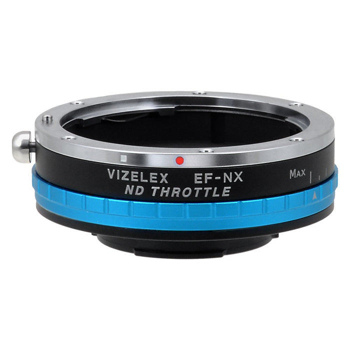 Vizelex ND Throttle Lens Mount Adapter - Canon EOS (EF / EF-S) D/SLR Lens to Samsung NX Mount Mirrorless Camera Body with Built-In Variable ND Filter (1 to 8 Stops)