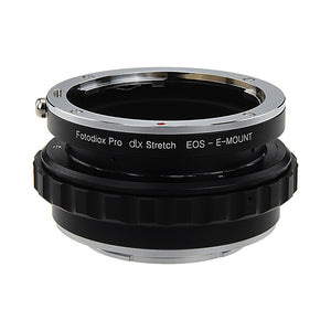 Fotodiox DLX Stretch Lens Mount Adapter - Canon EOS (EF / EF-S) D/SLR Lens to Sony Alpha E-Mount Mirrorless Camera Body with Macro Focusing Helicoid and Magnetic Drop-In Filters