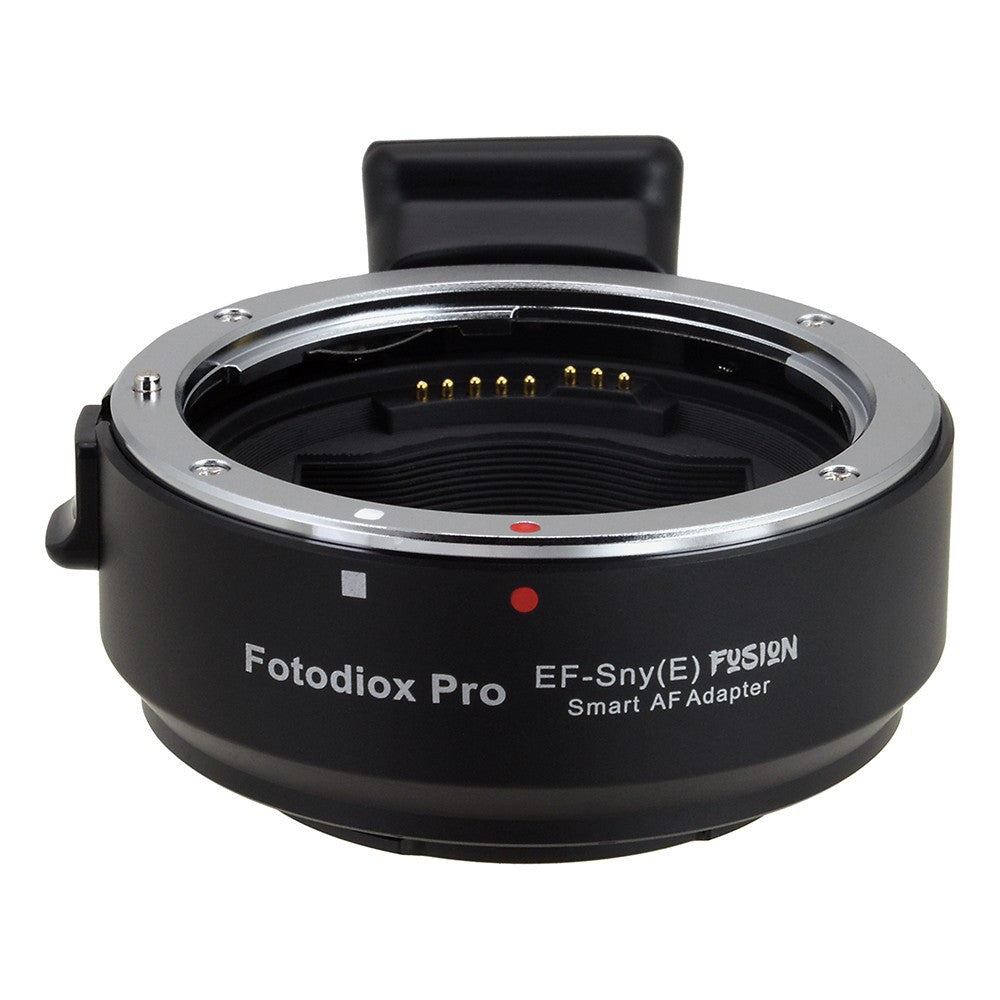 Fotodiox Pro Fusion Adapter, Smart AF Lens - Canon EOS (EF / EF-S) D/SLR  Lens to Sony Alpha E-Mount Mirrorless Camera Body with Full Automated