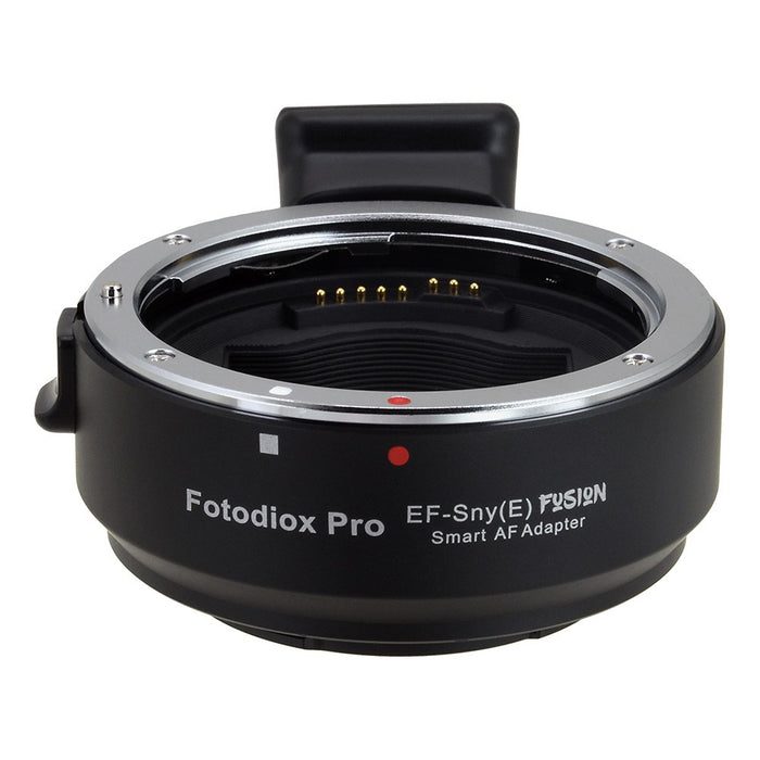 Fotodiox Pro Fusion Adapter, Smart AF Lens - Canon EOS (EF / EF-S) D/SLR Lens to Sony Alpha E-Mount Mirrorless Camera Body with Full Automated Functions
