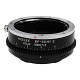 Vizelex Polar Throttle Lens Mount Adapter - Canon EOS (EF / EF-S) D/SLR Lens to Sony Alpha E-Mount Mirrorless Camera Body with Built-In Circular Polarizing Filter