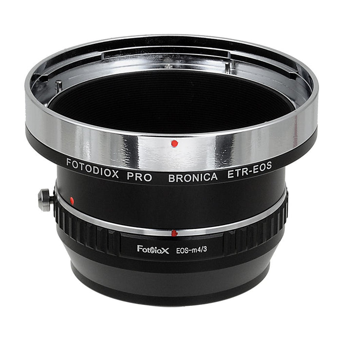 Fotodiox Pro Lens Mount Double Adapter - Bronica ETR Mount SLR and Canon EOS (EF / EF-S) D/SLR Lenses to Micro Four Thirds (MFT, M4/3) Mount Mirrorless Camera Body