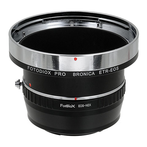 Bronica ETR SLR Lens to Sony Alpha E-Mount Camera Body Adapter
