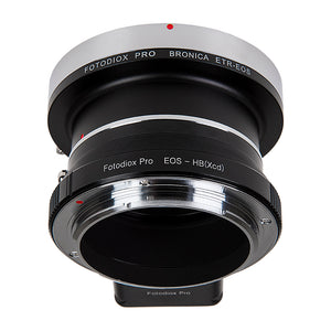 Fotodiox Pro Lens Mount Double Adapter, Bronica ETR Mount and Canon EOS (EF / EF-S) D/SLR Lenses to Hasselblad XCD Mount Mirrorless Digital Camera Systems (such as X1D-50c and more)