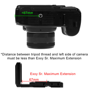 Exxy Omni Sr. Universal L-Bracket for Most DSLR Cameras - All Metal Black Camera Hand Grip for Acra Swiss or Arca Swiss-Type Quick Releases
