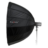 Fotodiox Deep EZ-Pro Parabolic Softbox with Balcar Speedring for Balcar and Flashpoint I Stobes - Quick Collapsible Softbox with Silver Reflective Interior with Double Diffusion Panels