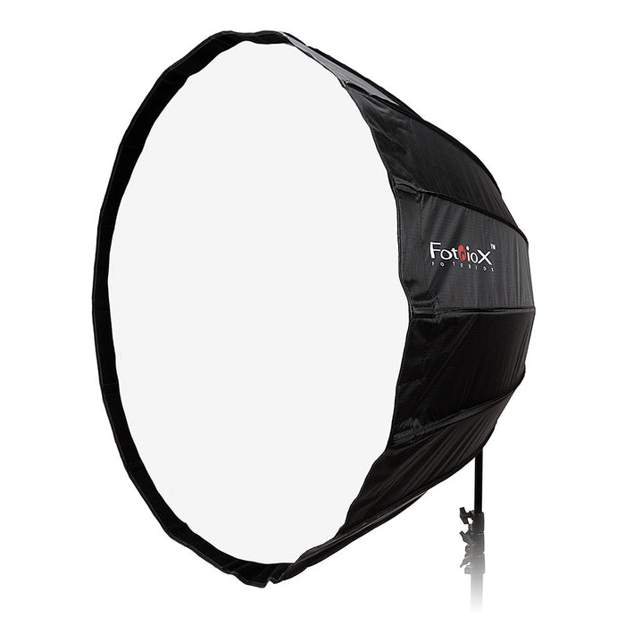 Fotodiox Deep EZ-Pro Parabolic Softbox with Bowens Speedring for Bowens, Interfit and Compatible Lights - Quick Collapsible Softbox with Silver Reflective Interior with Double Diffusion Panels