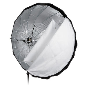 Fotodiox Deep EZ-Pro Parabolic Softbox with Broncolor Speedring for Broncolor (Impact), Visatec, and Compatible - Quick Collapsible Softbox with Silver Reflective Interior with Double Diffusion Panels