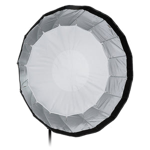 Fotodiox Deep EZ-Pro Parabolic Softbox with Multiblitz V Speedring for Multiblitz V, Varilux, and Compatible - Quick Collapsible Softbox with Silver Reflective Interior with Double Diffusion Panels