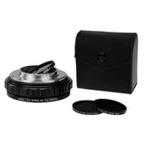 Fotodiox DLX Stretch Lens Mount Adapter - Canon FD & FL 35mm SLR lens to Fujifilm Fuji X-Series Mirrorless Camera Body with Macro Focusing Helicoid and Magnetic Drop-In Filters