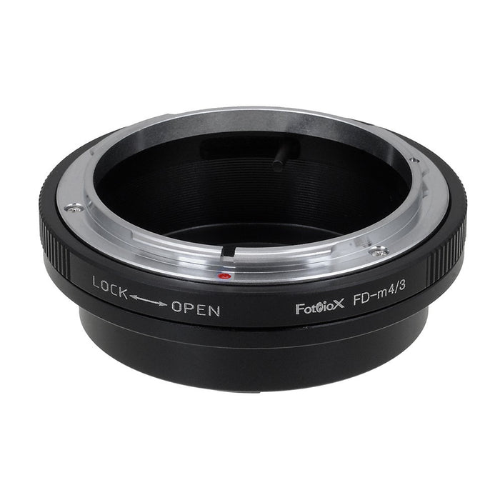 Fotodiox Lens Mount Adapter - Canon FD & FL 35mm SLR lens to Micro Four Thirds (MFT, M4/3) Mount Mirrorless Camera Body, with Built-In Aperture Control Dial