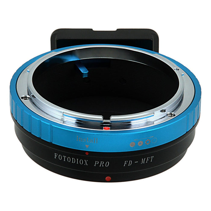 Fotodiox Pro Lens Mount Adapter - Canon FD & FL 35mm SLR lens to Micro Four Thirds (MFT, M4/3) Mount Mirrorless Camera Body, with Built-In Aperture Control Dial