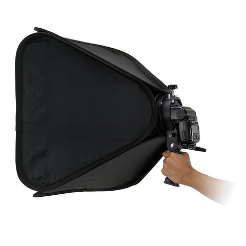 Fotodiox Pro Foldable Softbox with Handled Flash Bracket for both Speedlights and Bowens Mount Light Modifiers
