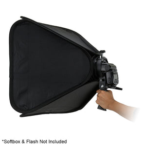 Fotodiox Pro Flash Bracket Holder with Handle for Speedlight Flash Guns and Bowen Mount Strobes - For Use with Reflectors, Softboxes, Snoots and Umbrellas