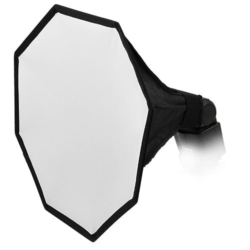 "Fotodiox 12"" Octagon Foldable Flash Softbox for On Camera Flash/Speedlight Diffusion"