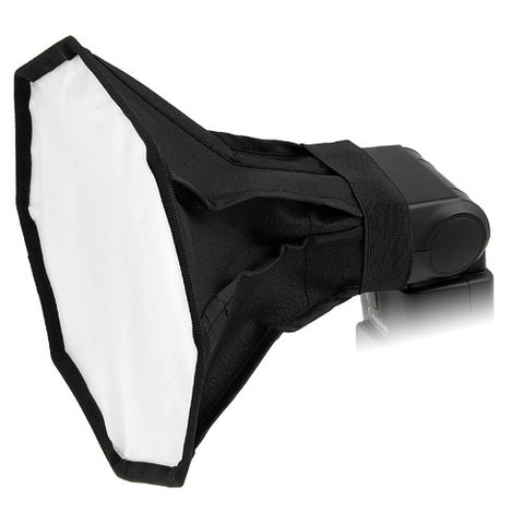 "Fotodiox 8"" Octagon Foldable Flash Softbox for Speedlights; Nikon, Canon, Vivita, Sunpack, Nissin, Sigma, Sony, Pentax, Olympus, Panasonic"