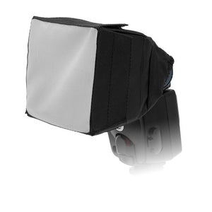 "Fotodiox 3.5x3.5"" Foldable Flash Softbox for Speedlights; Nikon, Canon, Vivita, Sunpack, Nissin, Sigma, Sony, Pentax, Olympus, Panasonic"