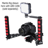 Mantis Folding Rig by Fotodiox - Collapsible Camera Stabilizer, Transformable Shoulder Support, Compact Foldable Video Rig