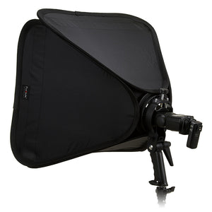 Fotodiox Foldable Softbox Flash Kit with Remote Radio Trigger - Collapsible Softbox and Speedlight Bracket with PocketWonder Elite 4-in-1 TTL Pass-Thru Radio Wireless Trigger Kit