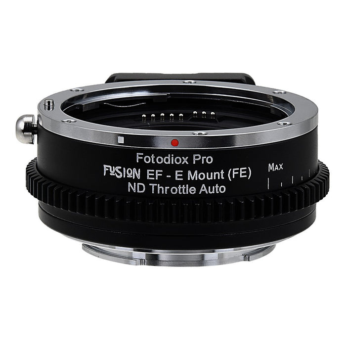 Vizelex ND Throttle Fusion Smart AF Lens Adapter - Canon EOS - EF (NOT EF-S) D/SLR Lens to Sony Alpha E-Mount Mirrorless Camera Body with Full Automated Functions and Built-In Variable ND Filter (2 to 8 Stops)