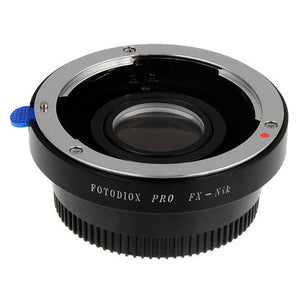 Fotodiox Pro Lens Mount Adapter - Fuji Fujica X-Mount 35mm (FX35) SLR Lens to Nikon F Mount SLR Camera Body