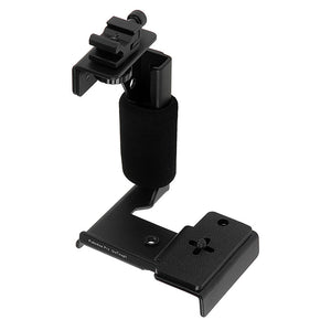 Fotodiox Pro GoTough Grip and QR Mount - Black Aluminum Camera Light Bracket, Action Grip with QR Base Mount for GoPro HERO Mounting Buckle System