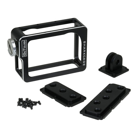 Fotodiox Pro GoTough Sharkcage for GoPro HERO3, HERO3+ and HERO4 Naked Action Cameras - Frame Mount Protective Camera Cage