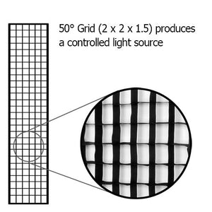 "Fotodiox Pro Eggcrate Grid for Softbox - Fits Pro Studio Solutions EZ-Pro and Fotodiox Pro Standard Softboxes - 50 Degree Grid (2x2x1.5"" Openings)"