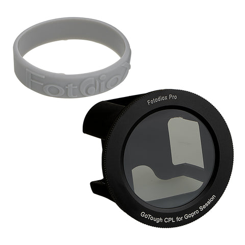 Fotodiox GoTough Silicone Mount with Circular Polarizer (CPL) Filter for GoPro HERO & HERO5 Session Camera