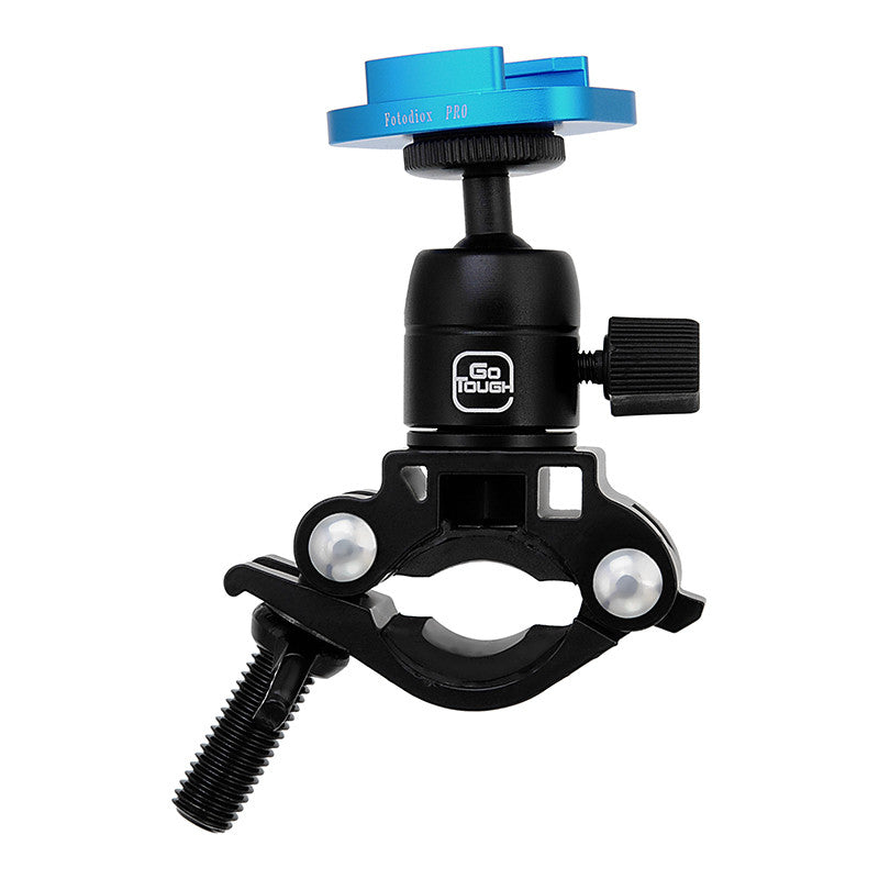 Fotodiox Pro GoTough Talon Handlebar / Seatpost QR Mount - Aluminum Bicycle  Pipe Clamp Mount for GoPro HERO Mounting Buckle System