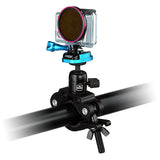 "Fotodiox Pro GoTough Racing Mount - Metal GoPro HERO Vehicle Mount for Race Car Roll Cage and Bars, Motorcycle Front Forks and Handlebars, up to 2.1"" Diameter - Compatible with GoPro HD HERO, HERO2, HERO3, HERO3+ and HERO4 Cameras with QR Buckle System"