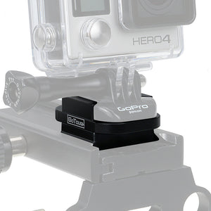 Fotodiox Pro GoTough Arca Swiss QR Tripod Base Mount - Aluminum Arca Swiss Quick Release Tripod Mount Plate for GoPro HERO Mounting Buckle System