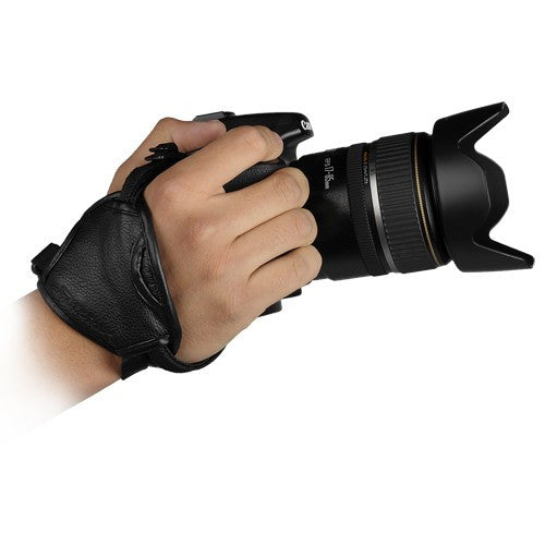 Fotodiox Genuine Leather Ultra Hand Strap, Handstrap Camera Grip fits w/ or w/o battery grip