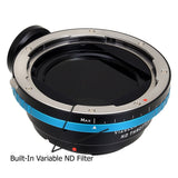 Vizelex ND Throttle Lens Mount Adapter - Hasselblad V-Mount SLR Lenses to Canon EOS (EF, EF-S) Mount SLR Camera Body with Built-In Variable ND Filter (1 to 8 Stops)