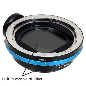 Vizelex ND Throttle Lens Mount Adapter - Hasselblad V-Mount SLR Lens to Nikon F Mount SLR Camera Body with Built-In Variable ND Filter (1 to 8 Stops)