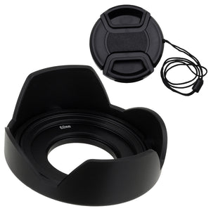 Fotodiox Reversible Lens Hood Kit for Olympus M.Zuiko Digital ED 14-42mm f/3.5-5.6 EZ Kit Lens, Reversible Tulip Flower Hood w/Cap f/MFT Kit Lenses