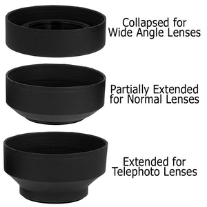 Fotodiox 3-Section Rubber Lens Hood