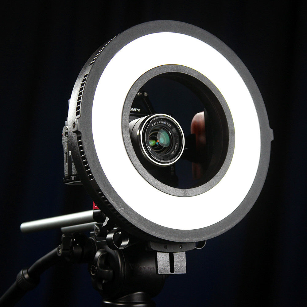Fotodiox Pro FlapJack LED Beauty Ringlight C-318RLS Bicolor Edge Light -  10in Round Ultra-thin, Ultrabright, Dual Color LED Photo/Video Ring Light
