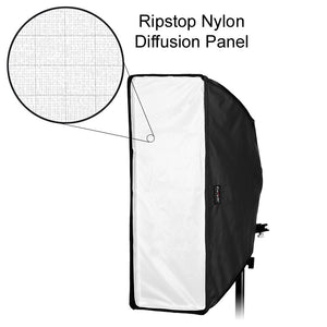 "Fotodiox Ez-Pro-Mini Flash Softbox K2560 10"" x 24"" (25cm x60cm) Rectangle for Flash / Speedlight"