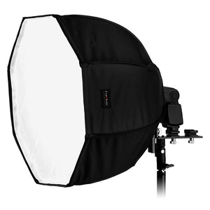 "Fotodiox Ez-Pro-Mini Flash Softbox K50 20"" (50 cm) Octagon for Nikon Flash, Canon Speedlight, for Nikon SB-600, SB-700, SB-800, SB-900, SB-910 Flash, Canon Speedlite 380EX, 430EX, 430EX II, 550EX, 580EX, 580EX II, Vivitar Flash, Sunpack, Nissin,Sigma, Son"