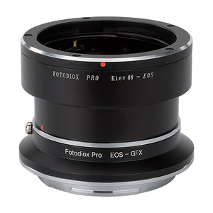 Fotodiox Pro Lens Mount Double Adapter, Kiev 88 SLR and Canon EOS (EF / EF-S) D/SLR Lenses to Fujifilm G-Mount GFX Mirrorless Digital Camera Systems (such as GFX 50S and more)