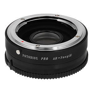 Fotodiox Pro Lens Mount Adapter - Konica Auto-Reflex (AR) SLR Lens to Sony Alpha A-Mount (and Minolta AF) Mount SLR Camera Body