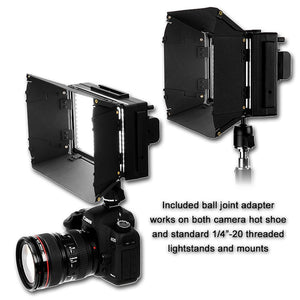 Fotodiox Pro LED-312DS, Professional 312 LED Dimmable Bicolor Adjustable Photo Video Light Kit