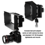 Fotodiox Pro LED-312DS, Professional 312 LED Dimmable Bicolor Adjustable Photo Video Light Kit with Removable Barndoors and 2x Removable Sony Compatible F550 Batteries