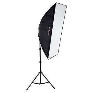 Fotodiox LED-955 Compact Studio Continuous 2-Light LED Softbox Lighting Kit for Film, Video and Photography