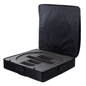 Padded Soft Carrying Case with Wheels and Extendable Handle for Fotodiox Pro FlapJack Studio XL (C-1500RSV) 30-Inch Bicolor LED Edge Light - Case Only
