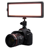 Fotodiox Pro FlapJack LED C-218AS Bicolor Edge Light - 4x11-Inch Rectangle Ultra-thin, Ultra-bright Professional Dual Color (Daylight/Tungsten) LED, Dimmable Photo/Video Light Kit with Case, Battery and Charger