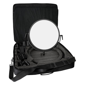 Award Winning Fotodiox Pro FlapJack Studio LED C-700RSV Bicolor Edge Light - 18in Round Ultra-thin, Ultrabright, Dual Color LED Photo/Video Light Kit