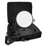 Fotodiox Pro FlapJack Studio (C-700RSV) Bicolor LED Award Winning Studio Edge Light - 18-Inch Round Ultra-thin Professional Dual Color LED, Dimmable Photo / Video Light Kit with Case