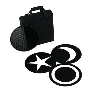 Fotodiox Pro FACTOR Jupitor Accessory Pack - Grid, 3x Creative Masks and Carrying Case